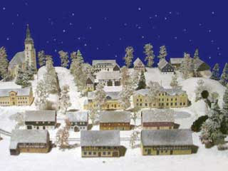 Pretzschendorf Christmas Mountain Village Papercraft