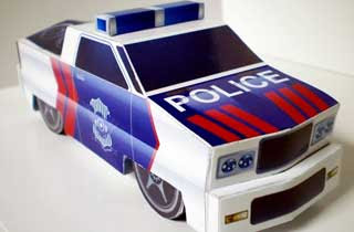 BigFut Paper Toy Police Version