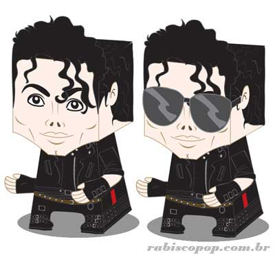 Michael Jackson Paper Toy