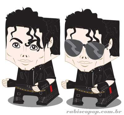 Michael Jackson Papercraft Bad