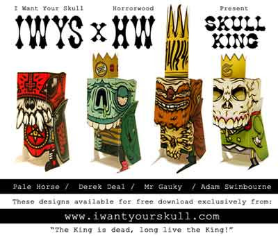 Skull King Paper Toy