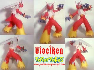 Pokemon Blaziken Papercraft