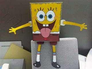 Tongue Wag SpongeBob Papercraft