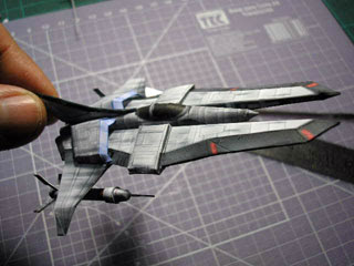 Gradius V Vic Viper Papercraft