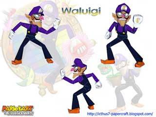 Mario Kart Waluigi Papercraft