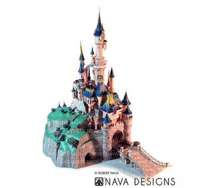 Sleeping Beauty Castle Papercraft