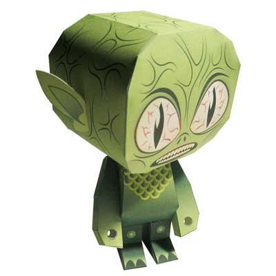 Chum Chum Alien Paper Toy