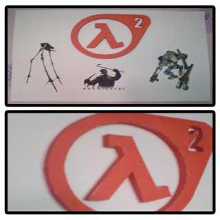 Half-Life 2 Logo Papercraft