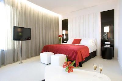 una de las suites del hotel Santos Porta Fira de l'Hospitalet de Llobregat