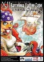 cartel del Barcelona Tatoo Expo que se celebrará en l'Hospitalet
