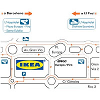mapa accesos a Ikea, gentileza de Ikea