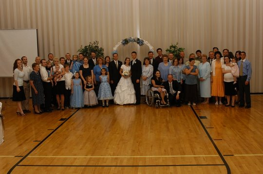 Melissa and Chris family wedding pic