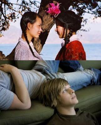 Imagens das curtas-metragens 'Tears of the Goddess', de Wang Huiyue (em cima), e 'Kompisar - Flatmates', de Magnus Mork (em baixo)