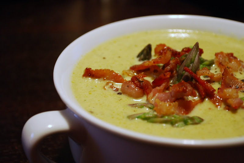 Creamy Asparagus Soup w/ Bacon & Asparagus Tip Garnish - Always Order ...