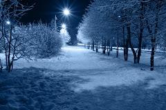 Téli fagyban, hóesésben