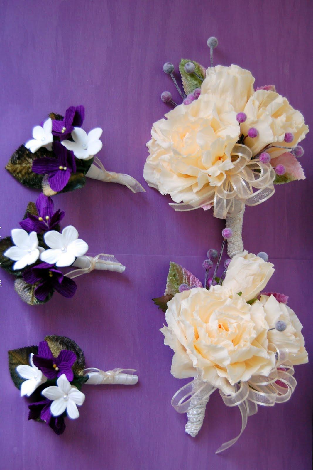 Pink Dahlia Paper Flower Wedding Bouquet Handmade Paper Flowers By