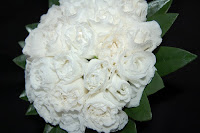 white rosebuds bouquet
