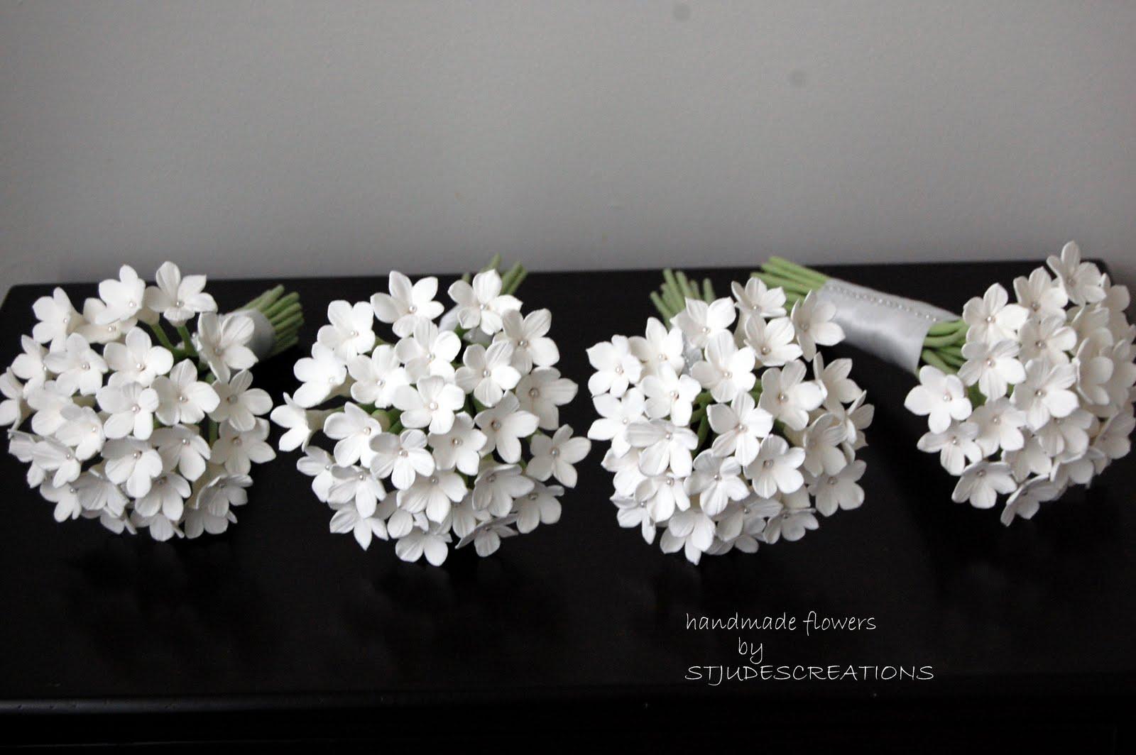 Stephanotis wedding bouquets in clay handmade paper flowers by stephanotis wedding bouquets in clay izmirmasajfo
