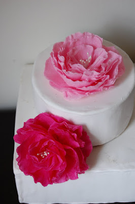 paper flower wedding favor topper