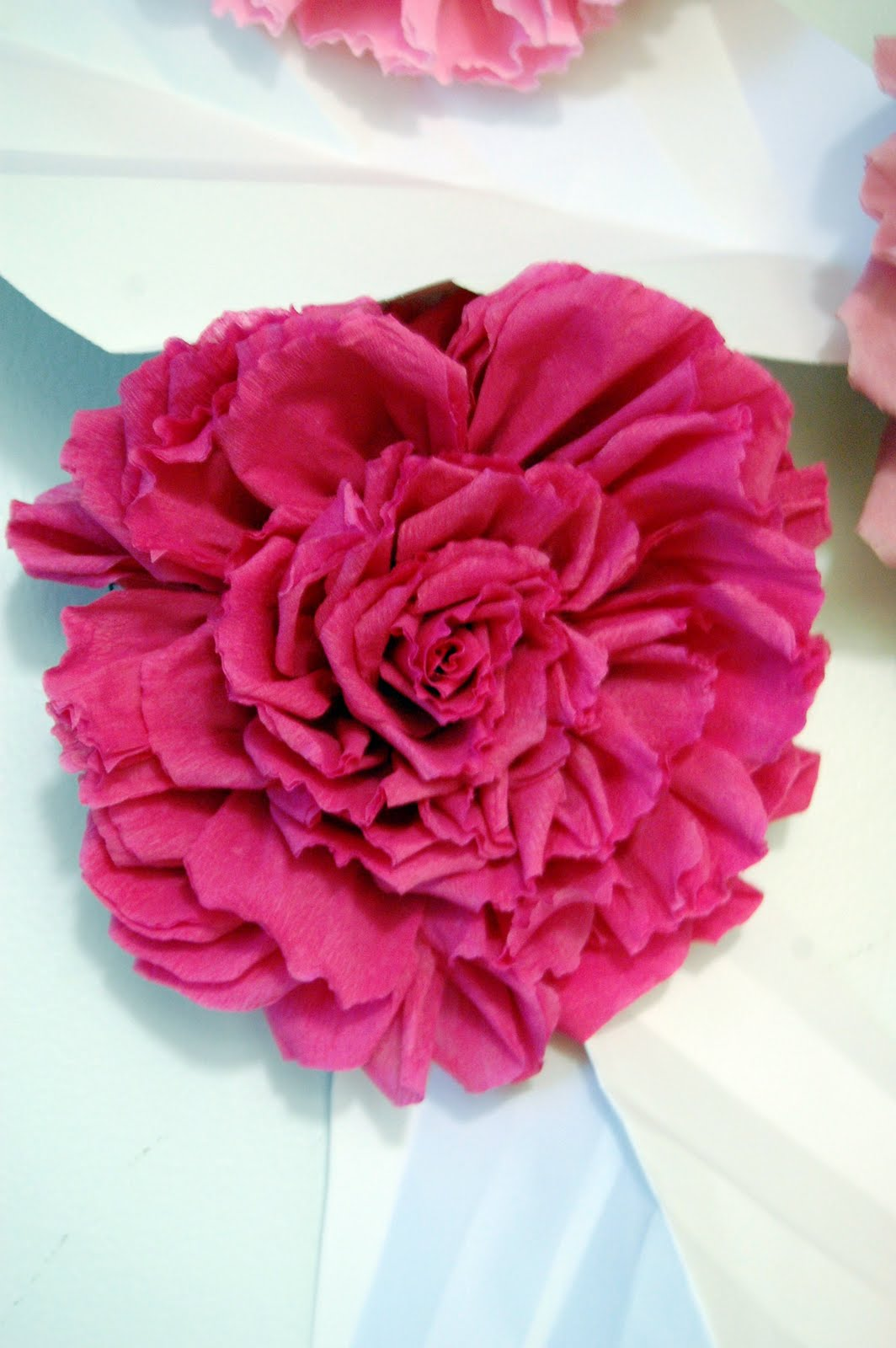 chanel inspired large paper flower wall backdrop