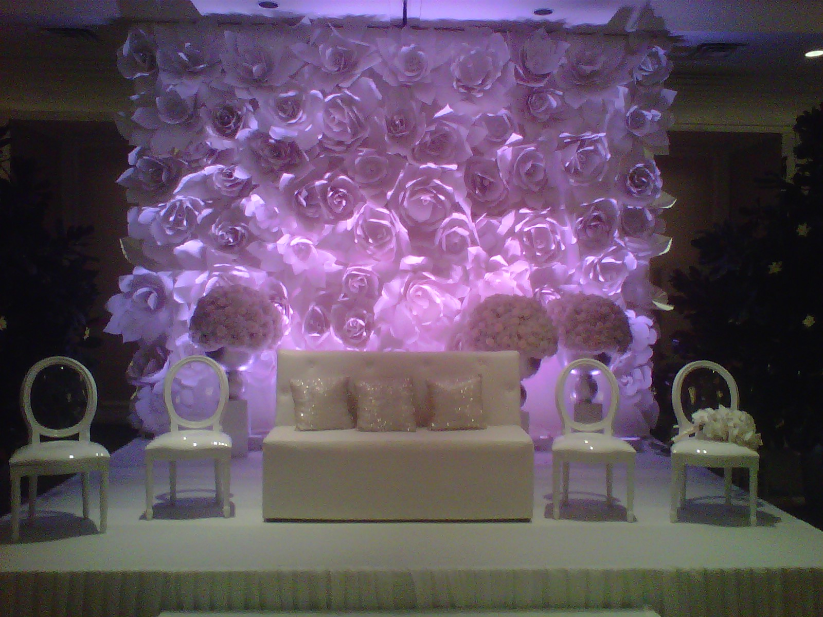 large chanel paper flower wall inspired wedding backdrop wall for world of po