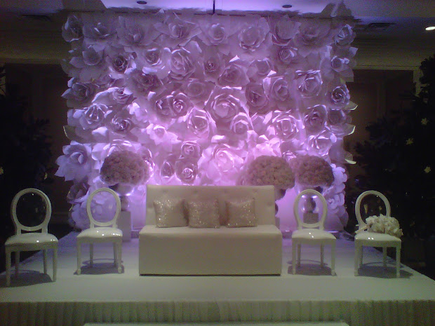 Wall Paper Flower Backdrop Wedding