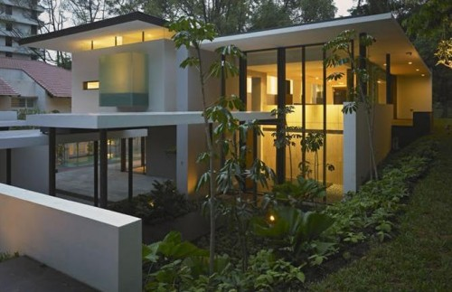 Home design modern bungalow house design for Flat architecture design