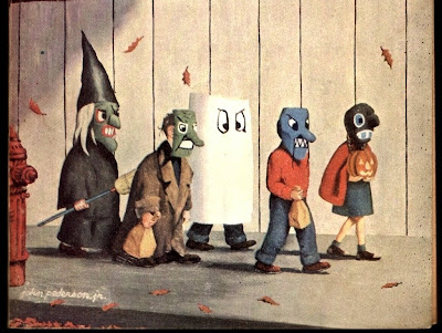 desktop wallpaper science. Trick or treat desktop wallpaper, edited from the November 1959 cover of If