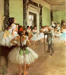 A classe de dança