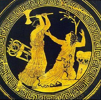 Clytemnestra kills agamemnon