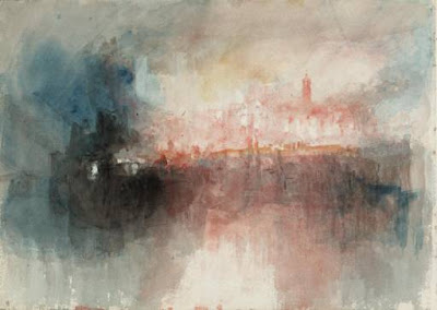 Turner Colour Study: The Burning of the Houses of Parliament 1834