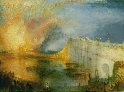 Turner. The Burning of the Houses of Lords and Commons