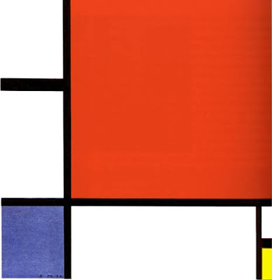 Mondrian. Composition with Red, Blue and Yellow 1930