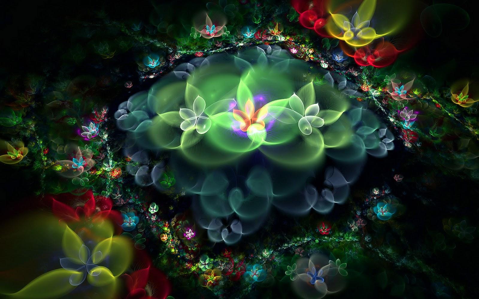 炫彩花卉; 3d梦幻抽象花朵壁纸;