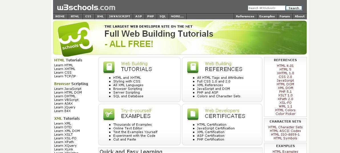 Useful Websites W3schools