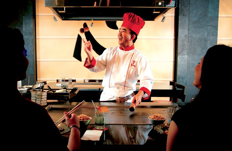 Benihana Chef Cheesing
