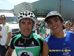 Con Perico Delgado