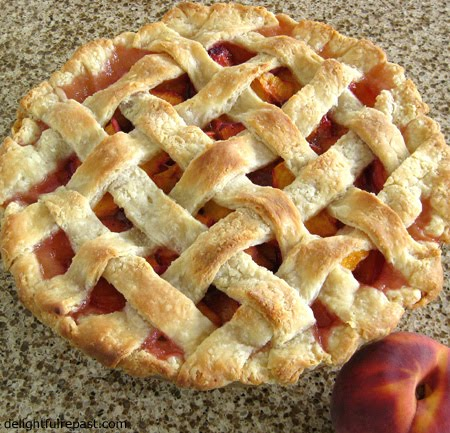 Delightful Repast: Peach Pie with Lattice Crust - The ...