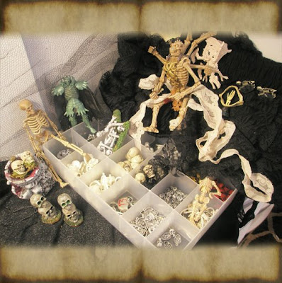 dollhouse miniature tutorial how to find spooky bits to make halloween miniatures