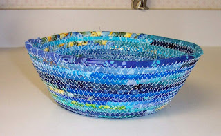 fabric clothesline wrapped bowl