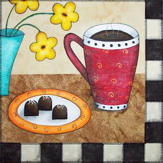 chocolate latte art quilt