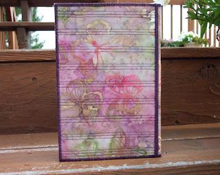 fabric notepad folder back