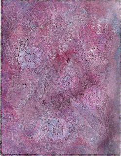 lutradur lace journal quilt