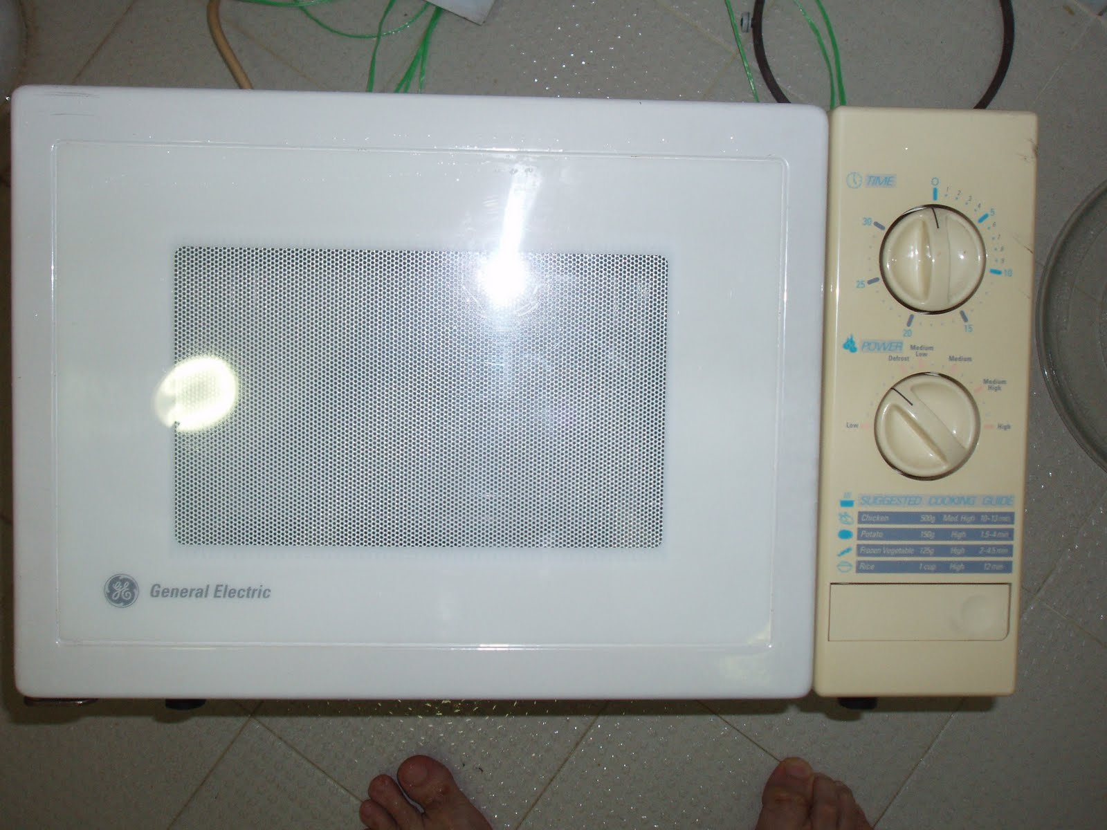 vintage general electric 1200w microwave oven