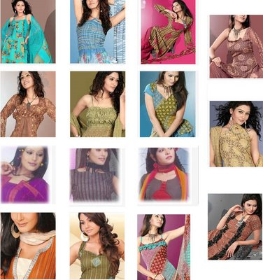 Dress Design Patterns on Spring Fashion Trend Salwar Suits Printed Embroidered Cotton