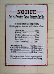 Pavilion Restroom Sign