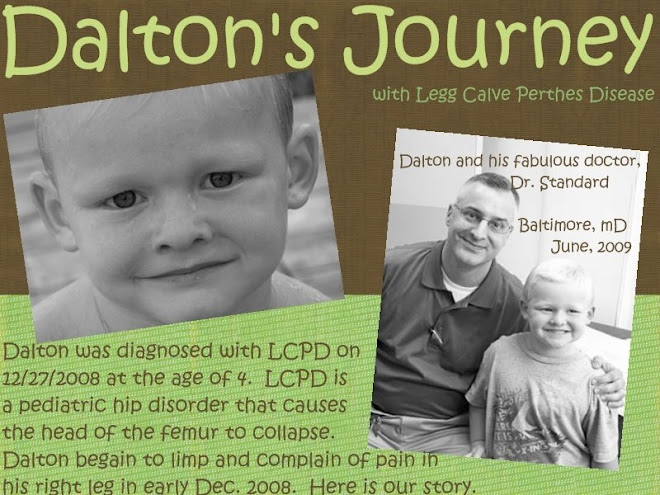 Dalton's Journey with Legg Calve Perthes Disease