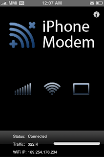 iphonemodem iphone tethering application