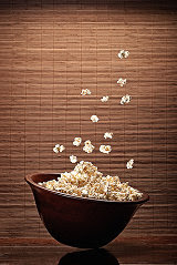 Photo of flying pop-corn