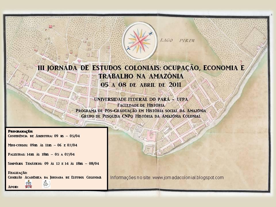 III JORNADA DE ESTUDOS COLONIAIS